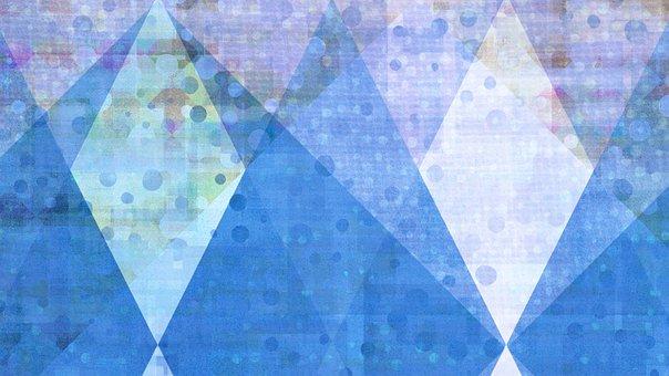 Rhomboid, Circles, Background, Pattern
