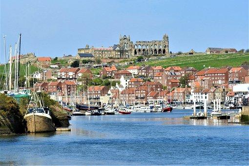 Whitby, Harbour, Coast, Uk, Abbey, Seaside