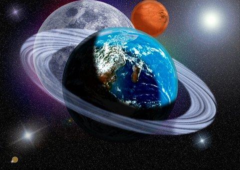 Planets, Ring, Stars, Cosmos, Galaxy
