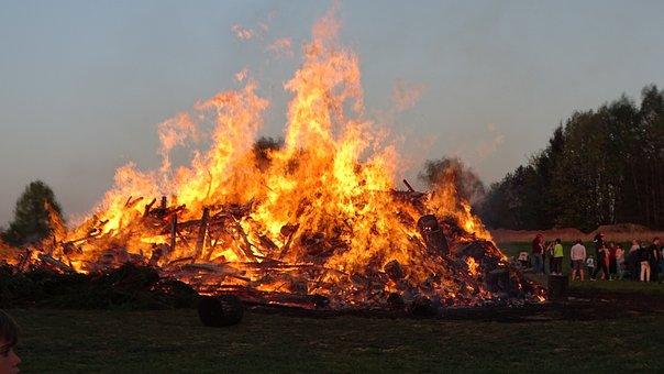 Fire, Easter Fire, Flame, Burn, Wood, Brand, Firewood