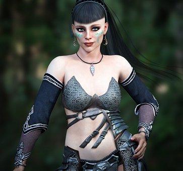 Fantasy, Female, Warrior, Tribal, Woman, Cool, Women