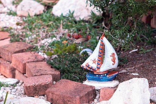 Garden, Decoration, Boat, Nature, Flowers, Decorative