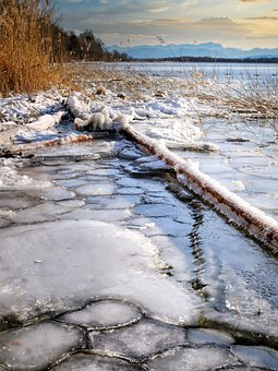 Lake, Bank, Ice, Ice Floes, Cold, Nature, Frost, Frozen