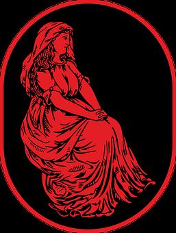 Woman, Red, Shawl, Girl, Old, Dress, Wedding Dress
