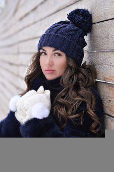 Girl, Model, Portrait, Winter Clothes, Winter Clothing