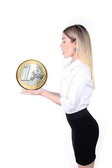 Woman, Coin, Euro, Money, Investment, Financial