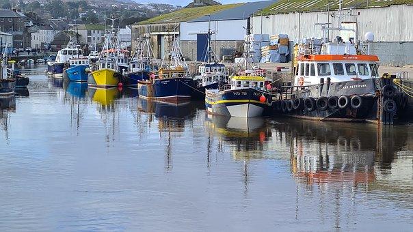 Wicklow Harbour, Wicklow, Sea, Harbour, Water, Nature