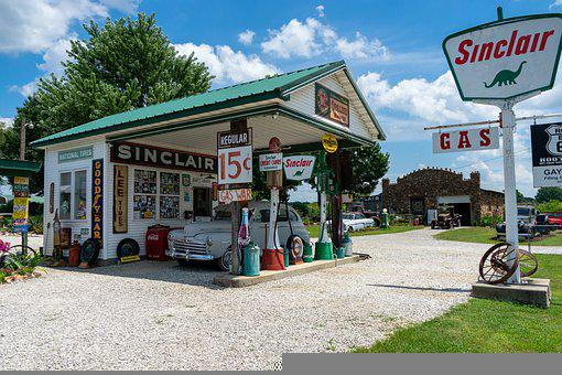 Old, Gas, Station, Route 66, Fuel, Garage, Vintage