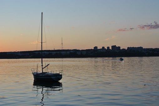 Boat, Pond, Water, Ship, City, Body Of Water, Swim