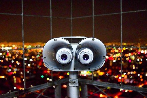 Rascacielos, Binoculares, Telescopio, Edificio, Ciudad