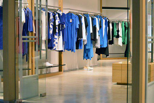Clothes, Shop, Retail, Display, Entrance, Shopping