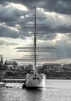 Ship, Boat, Masts, Rigging, Cordage, Sail Boat, Vessel