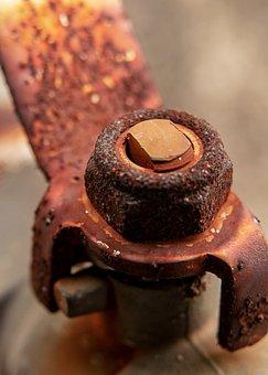 Nut, Rust, Closeup, Screw, Metal, Iron, Rusty, Industry