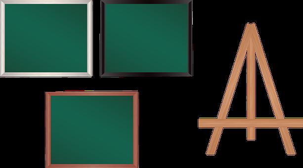 Chalkboard, Easel, Eraser, Blackboard, Sign, Green