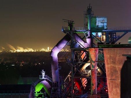 Structures, Architecture, Illuminated, Night Sky
