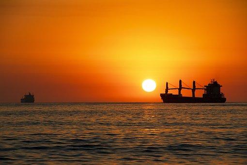 Sunset, Sea, Landscape, Sky, Beach, Sun, Light, Boat