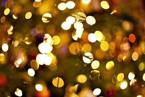 Light, Color, Christmas, Background, Trees