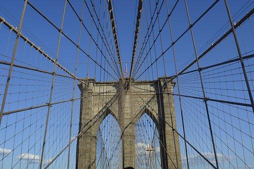Brooklyn, Ny, Bridge, Usa, Architecture