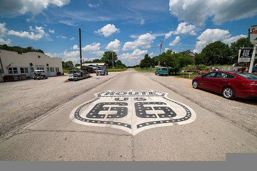 Route 66, Usa, Road, America, Travel, 66, Vintage