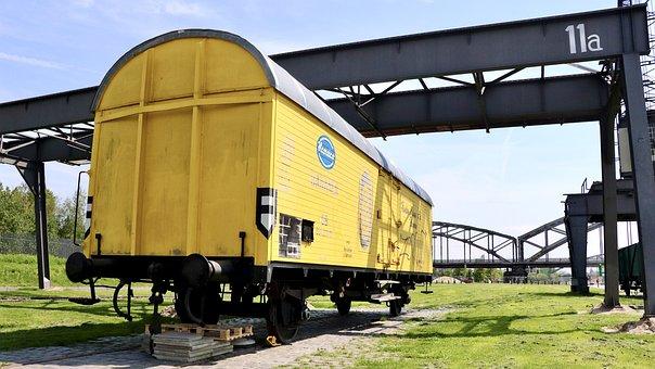 Wagon, Yellow, Transportation, Transport, Railway