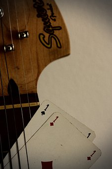Guitar, Deck Of Card, Vintage, Font, Nostalgia, Antique