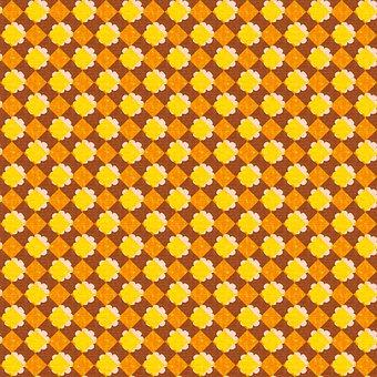 Digital Paper, Flowers, Rhombus, Background, Pattern