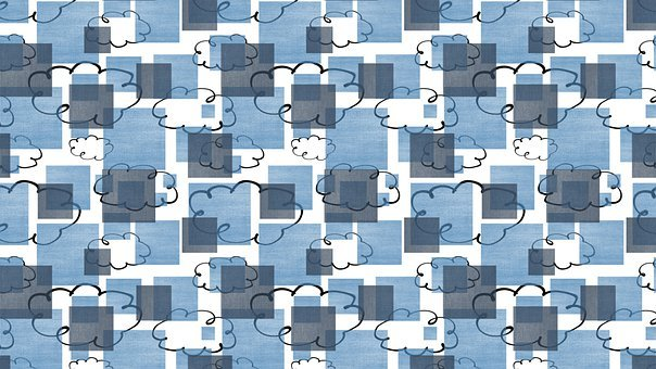 Digital Paper, Clouds, Square, Background, Pattern, Sky