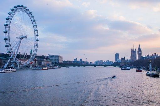 London, Bridge, Sea, Nature, Ocean, Ship, Sky, Water