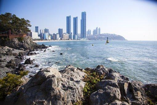 Haeundae Beach, Busan, Sea, Bathing Beach, Beach