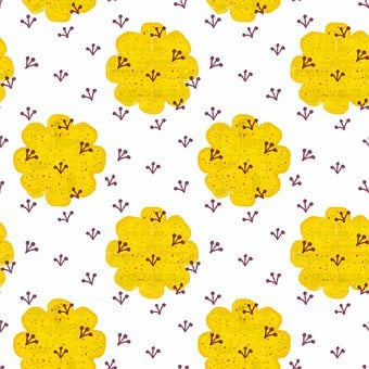 Digital Paper, Flowers, Pattern