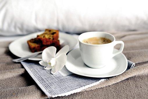 Coffee, Breakfast, Bed, Food, Drink, Beverage