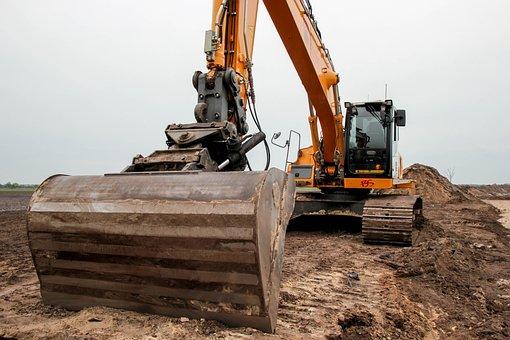 Liebherr, Digger, Sand, Excavator, Bulldozer