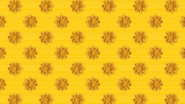 Yellow, Flowers, Floral, Sunflowers, Design, Pattern