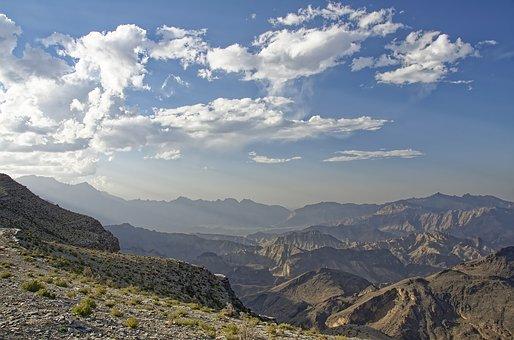 Mountains, Peak, Panorama, Sky, Clouds, Fog, Mist
