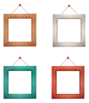 Frame, Square, Decorative, Wood, Wooden, Picture Frame