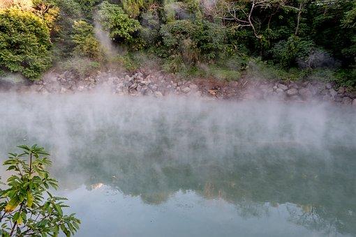 Geothermal, Hot Spring, Geysir, Steam, Natural, Nature