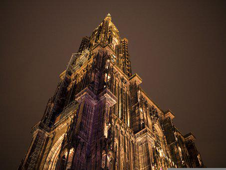 Cathedral, Notre-dame, Strasbourg, Sandstone, Gothic