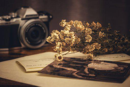 Memories, Photos, Love, Letter, Flowers, Dried Flowers