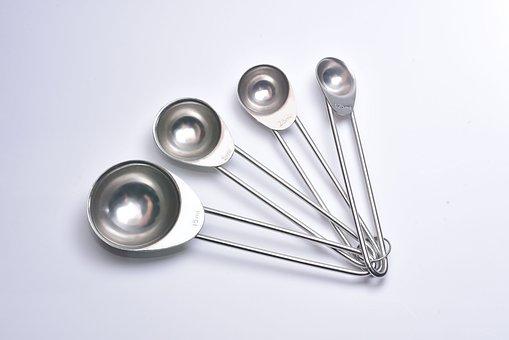 Spoon, Dietitian, Diet, Measure, Steel, Measuring Spoon