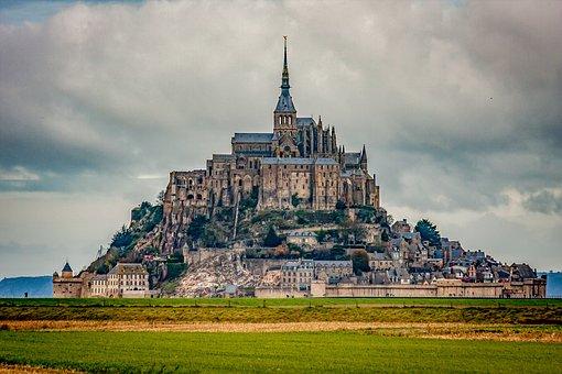 Castle, Monument, Church, Bay, Mount, Mont Saint Michel