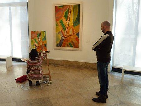 Museum, Art, Mural, Musée D'art Modern, Palais De Tokyo