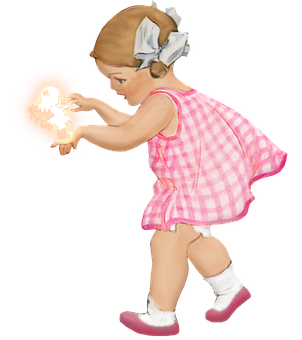Little Girl, Fairy, Fantasy, Playful, Playing