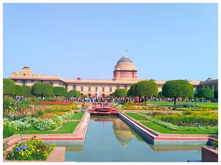 President House, New Delhi, Delhi, Rashtrapathi, Sunset