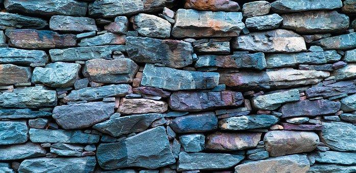 Rock Wall, Stone Wall, Laying Stone, Blue Stone