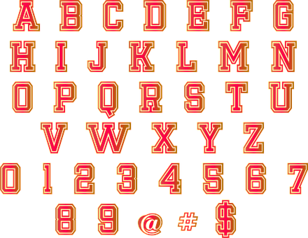 Alphabet, Numbers, Font, Shiny, Letters, At Sign