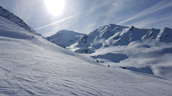 Mountain, Snow, Ski Slope, Winter, Mountains, Nature