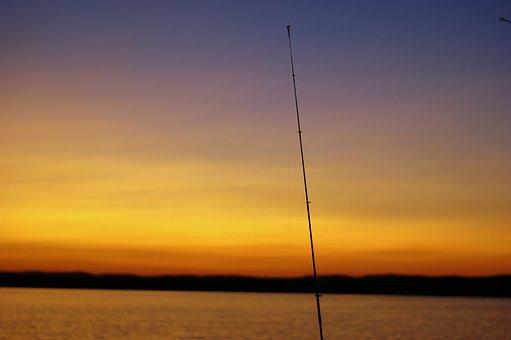 Maine, Sunset, Fishing, Sky, Skyline, Landscape, Water