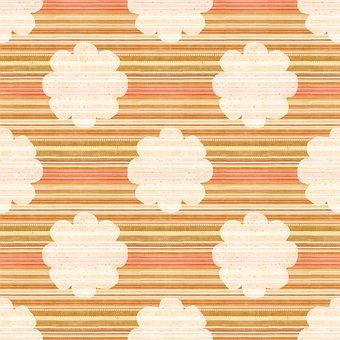 Digital Paper, Flowers, Stripes, Lines, Pattern, Floral