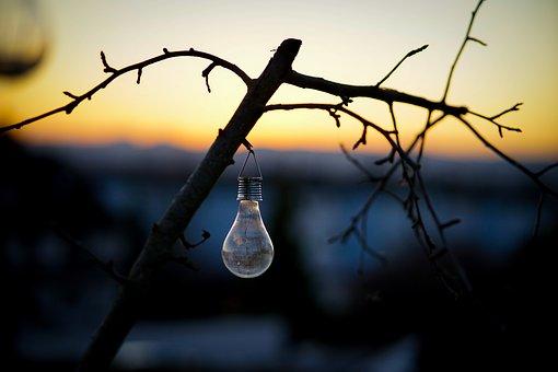 Sunset, Lamp, Lantern, Light, Sky, Evening, Nature