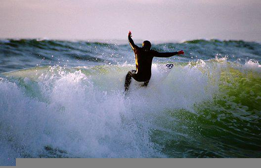 Surfing, Waves, Man, Surfer, Surfboard, Ocean